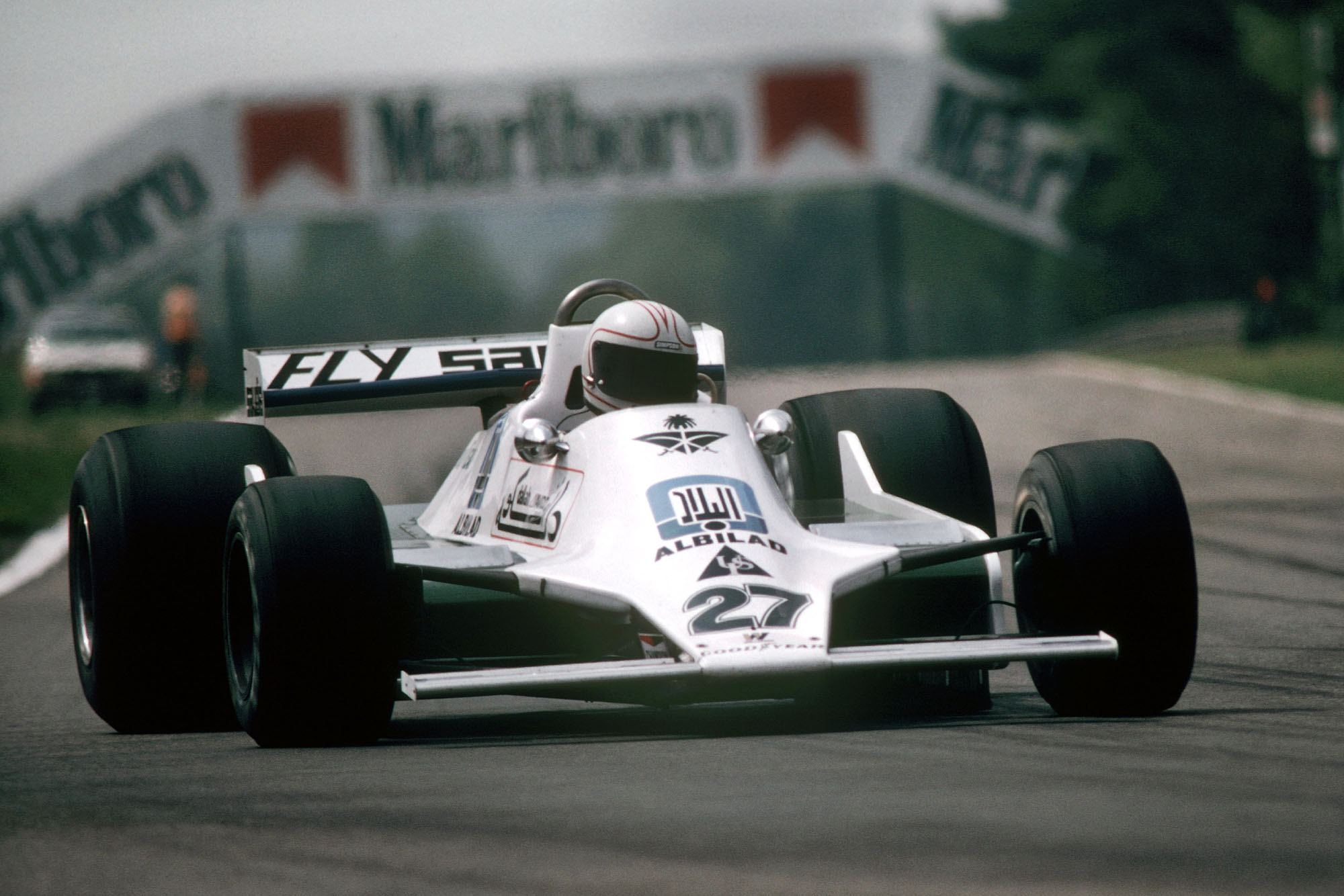 Alan Jones (WIlliams) at the 1979 Belgian Grand Prix, Zolder.