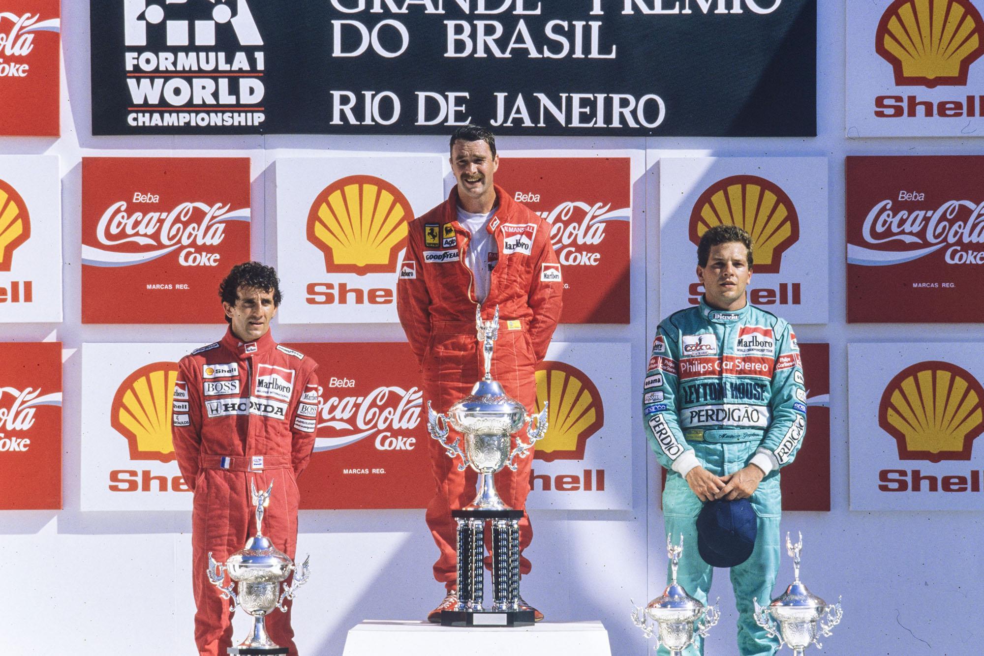 1989 Brazilian GP podium