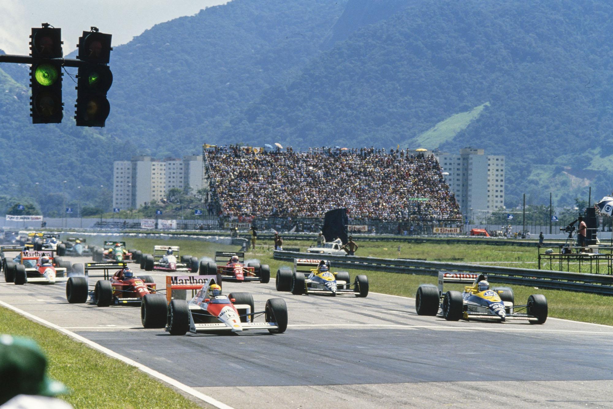 1989 Brazilian GP start