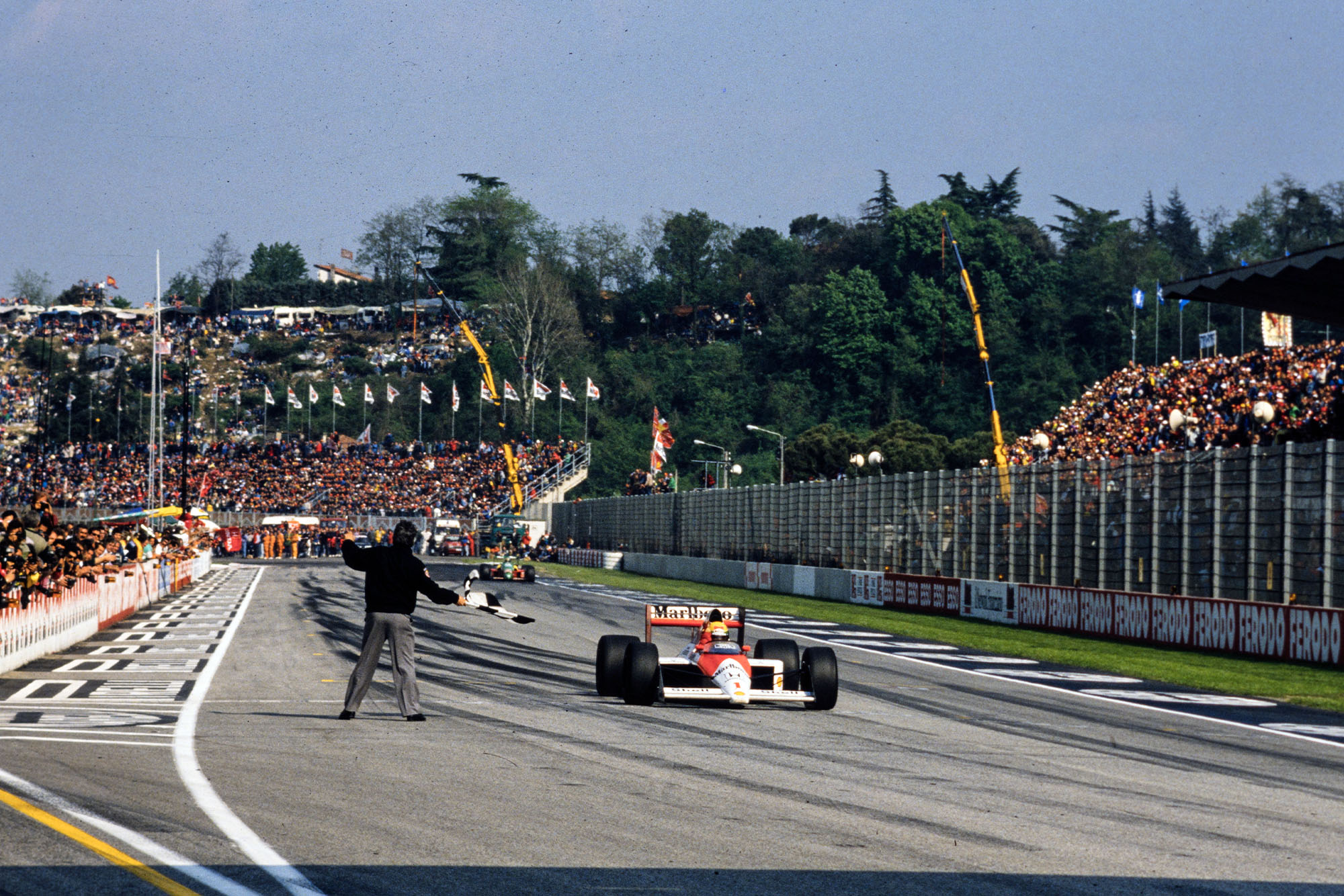1989 San Marino GP Senna finish
