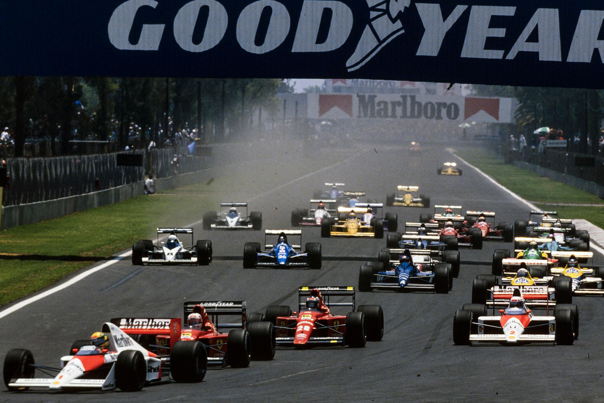 1989 Mex GP start