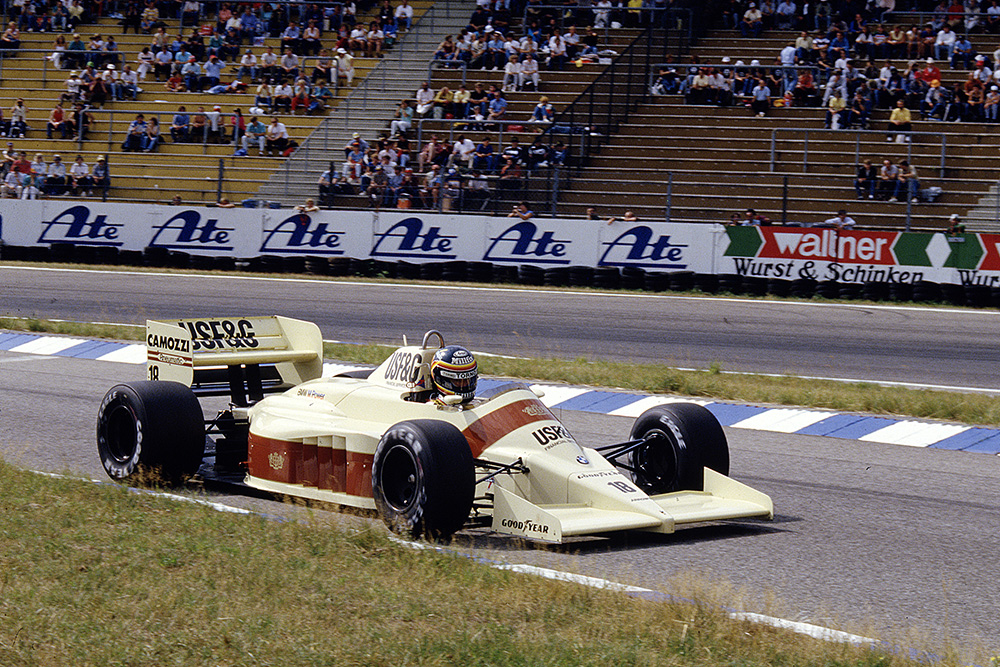 Thierry Boutsen in his Arrows A9 BMW.