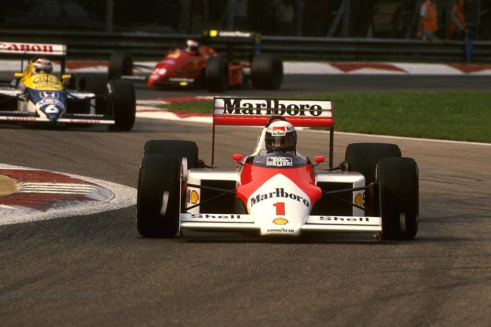 Alain Prost in his McLaren MP4/2C.