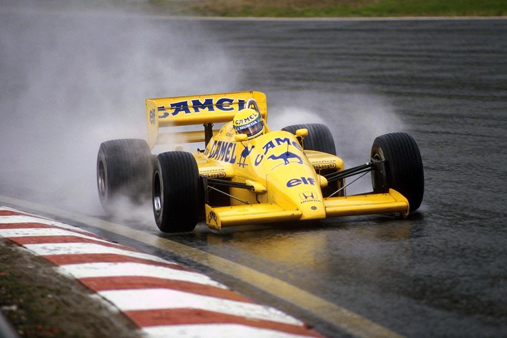 Ayrton Senna driving his Lotus 99T.