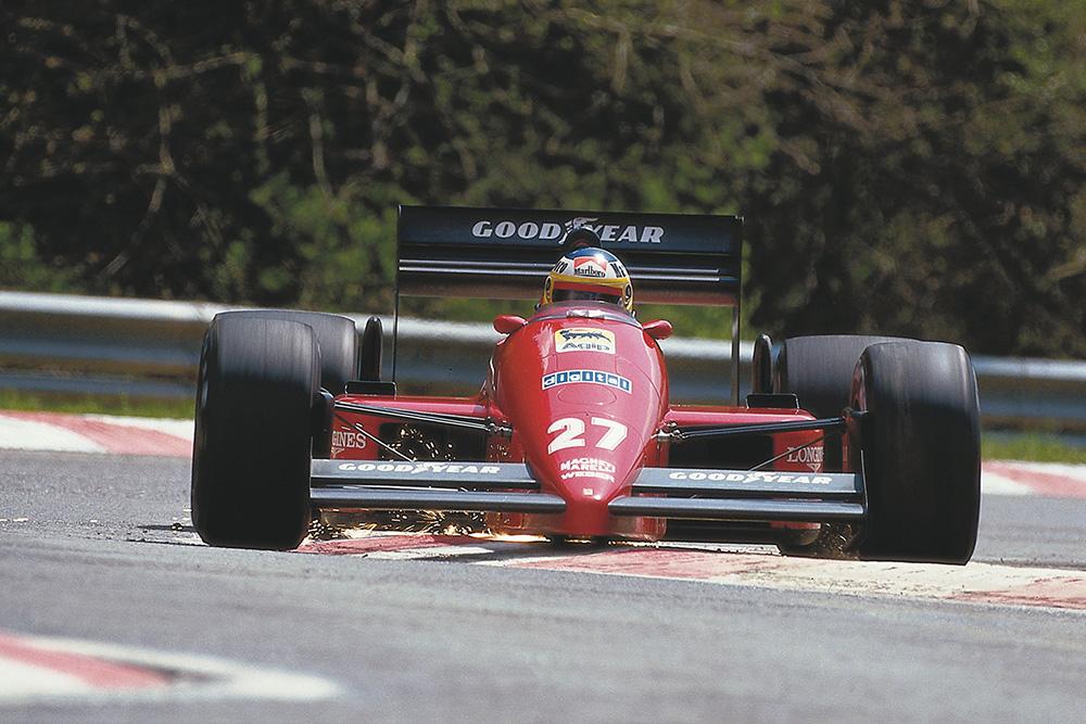 Michele Alboreto at the wheel of his Ferrari F187.