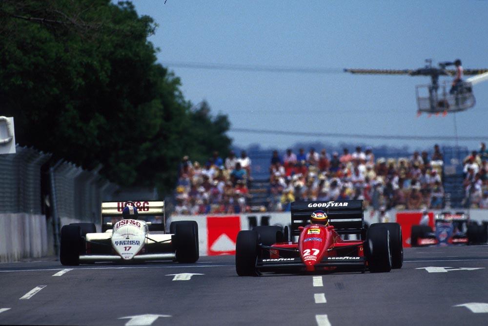 Michele Alboreto did not finish in his Ferrari F187.
