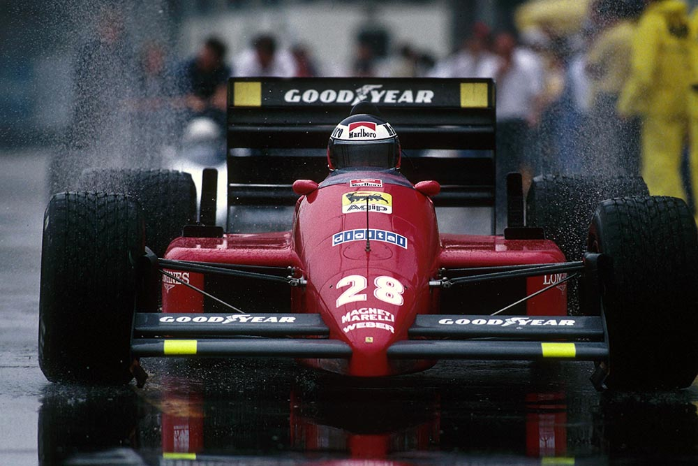 Gerhard Berger in his Ferrari F187.