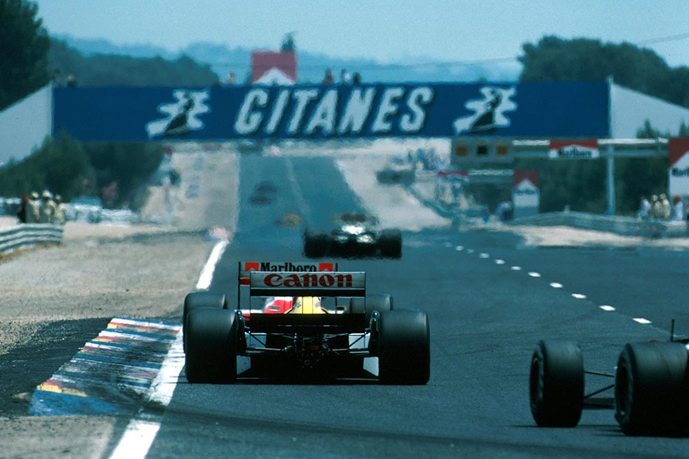 A view up the track French Grand Prix.