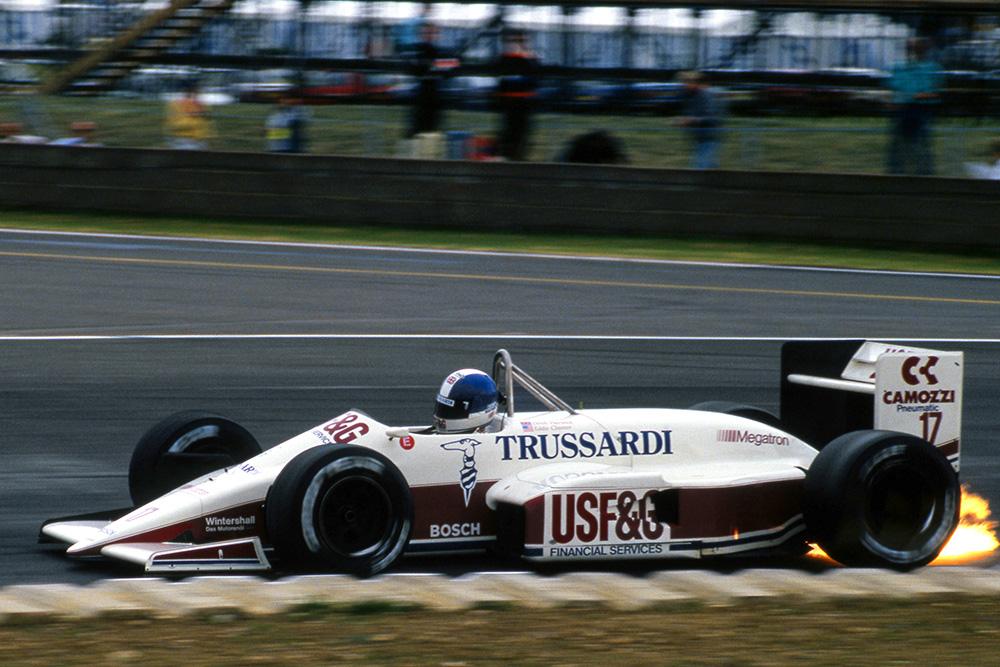 Derek Warwick in his Arrows A10, finished fifth.