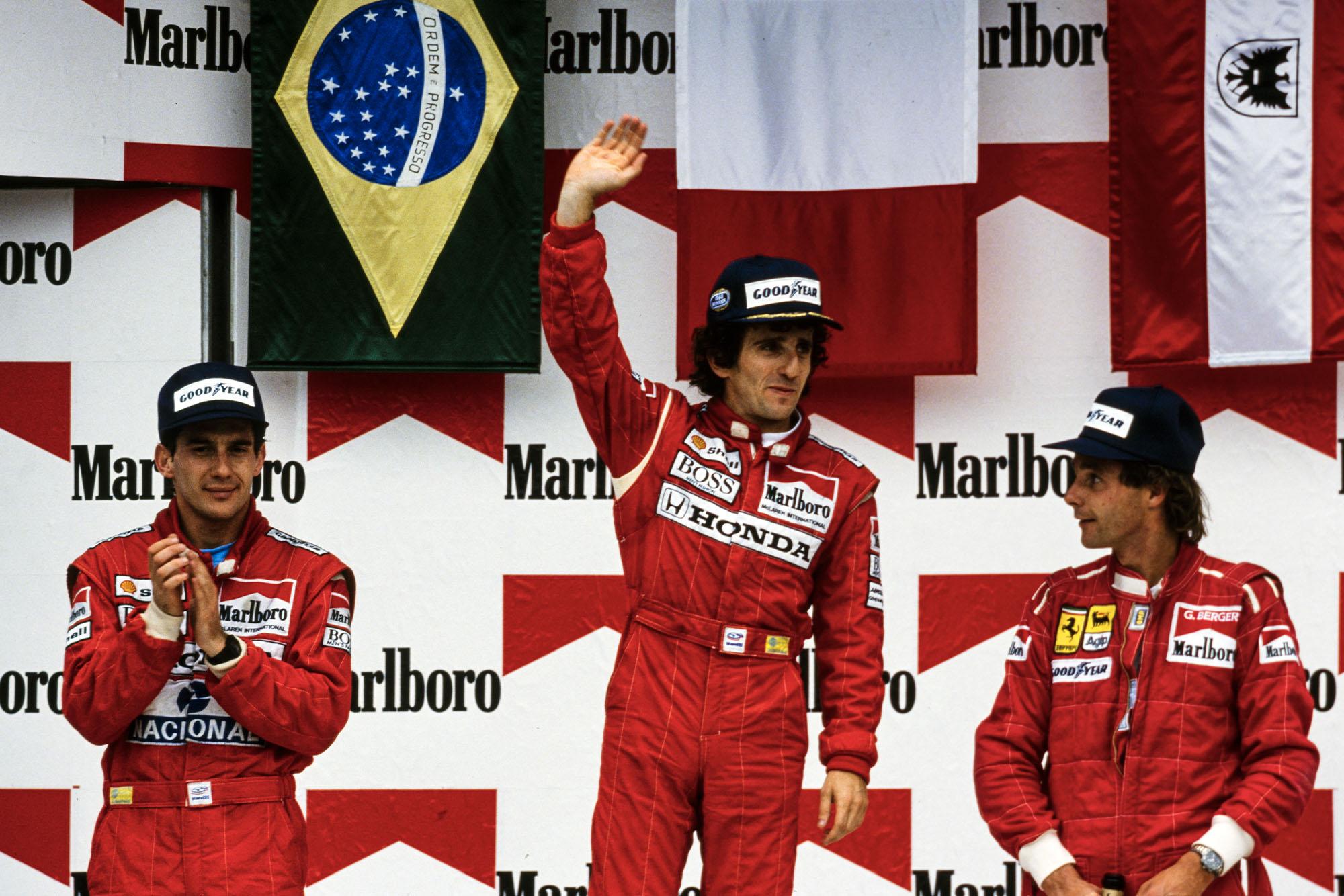 1989 MEX GP podium