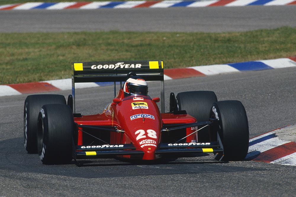 Gerhard Berger in his Ferrari F1-87.