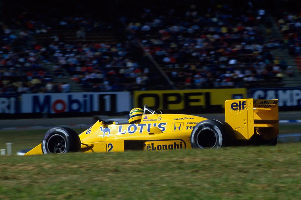 Ayrton Senna in his Lotus 99T.
