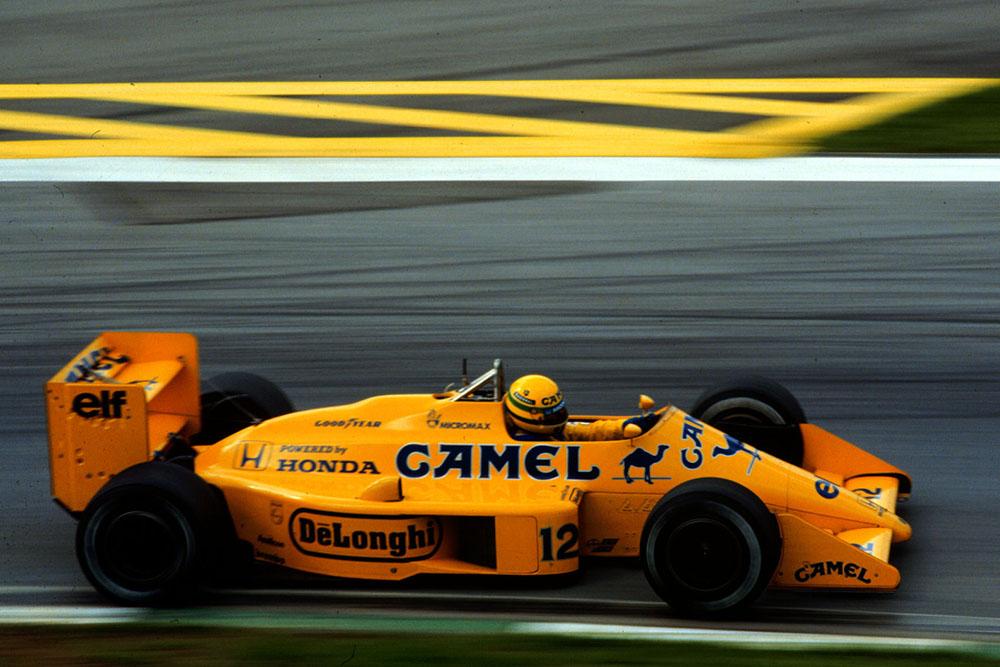 Ayrton Senna, Lotus Honda, finishes 4th.
