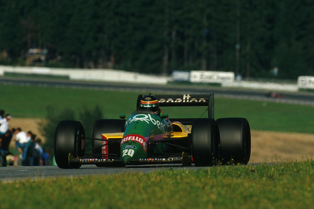 Thierry Boutsen in his Benetton B187.