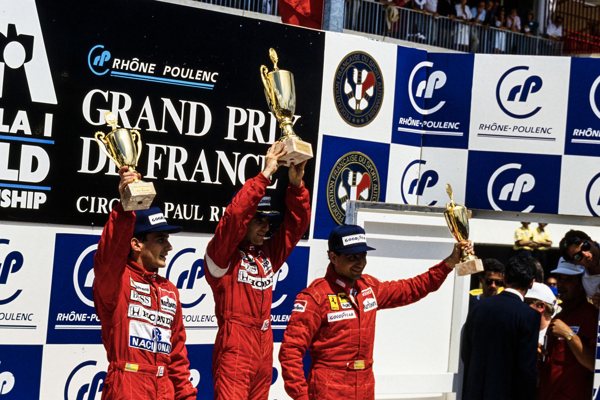 1988 FRA GP podium