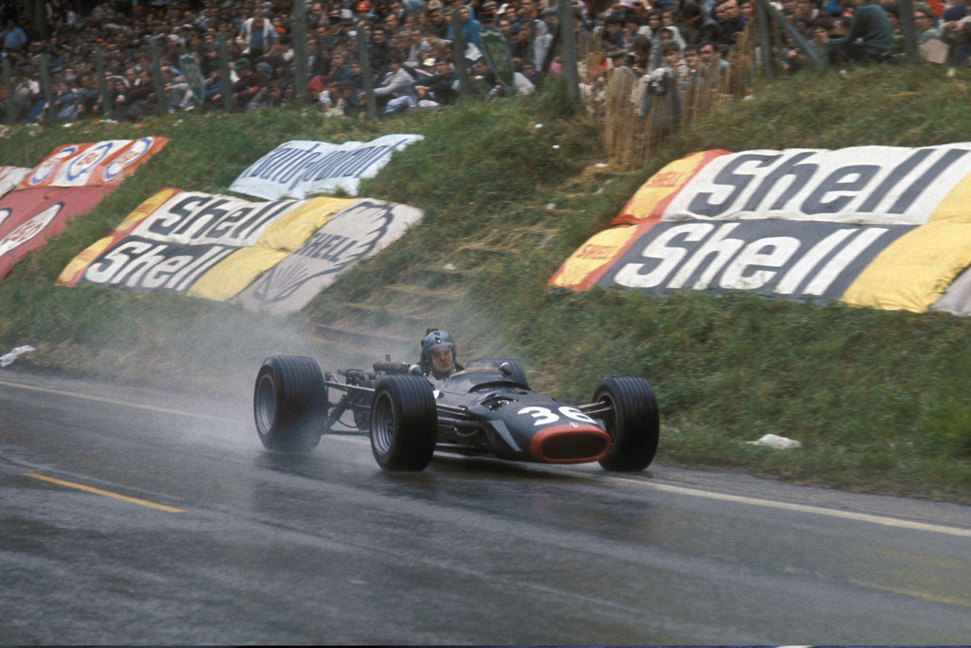 Piers Courage in a BRM at the 1968 French GP