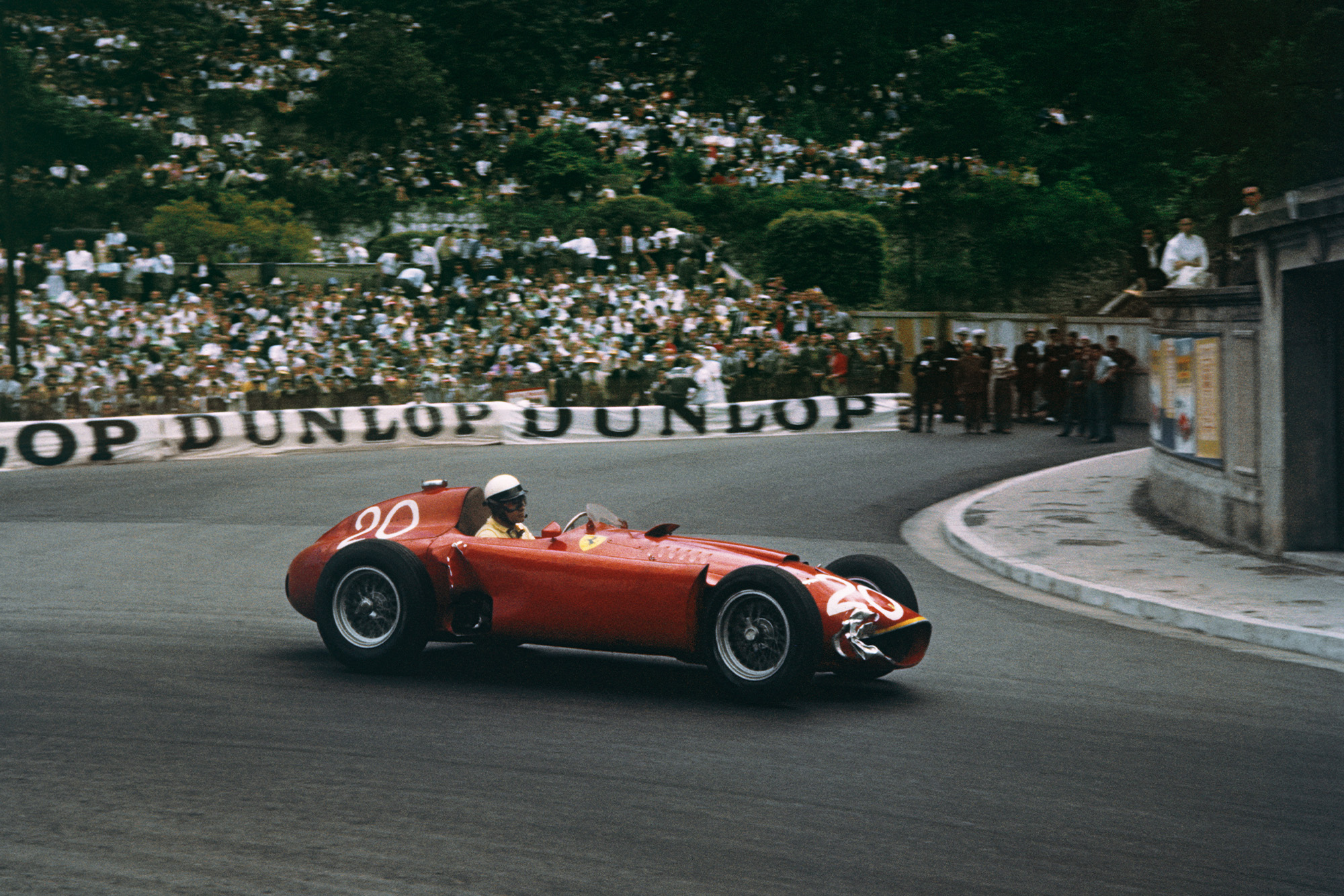 Castellotti rounds the final turn