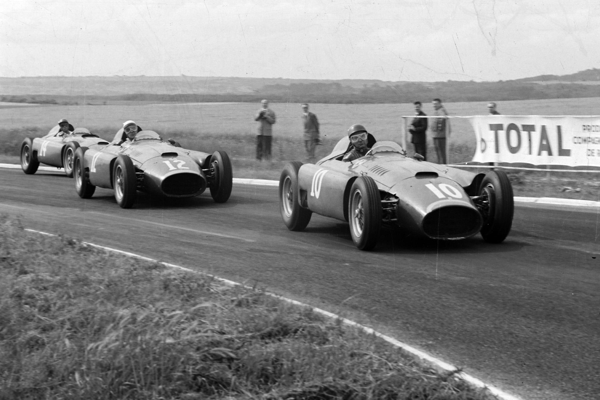 Castellotti leads Fangio and Collins