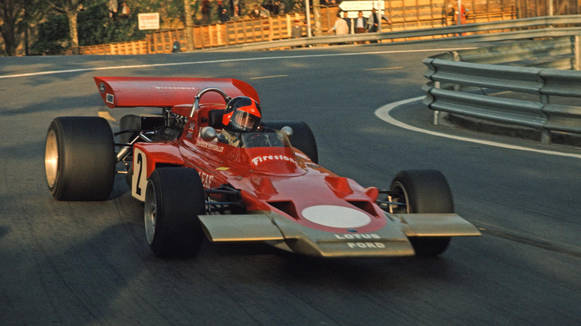 Lotus of Emerson Fittipaldi at the 1971 Spanish Grand Prix