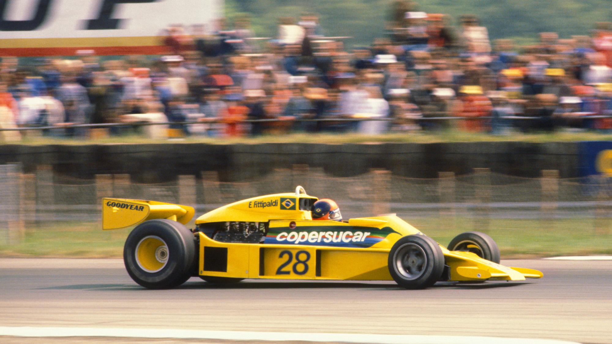 Copersucar Fittipaldi of Emerson Fittipaldi at the 1977 British GP