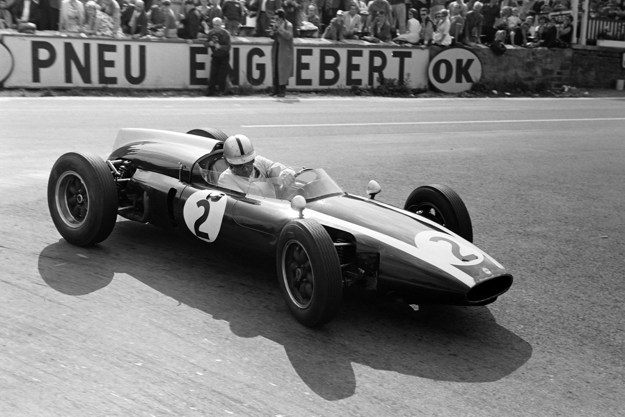 Jack Brabham on his way to a second consecutive victory