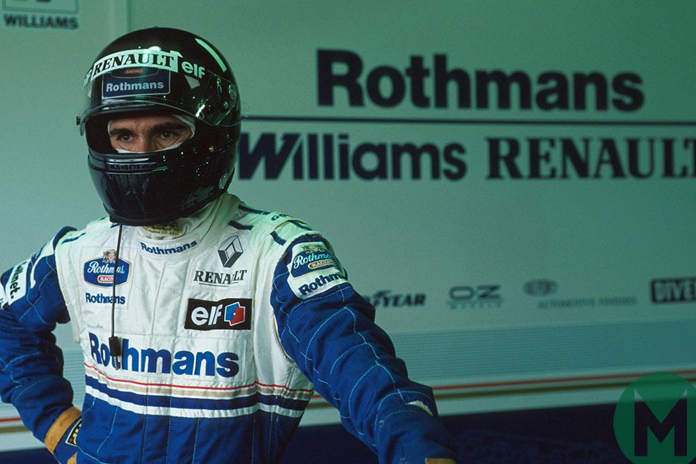 Damon Hill looks pensive ahead of the 1994 Brazilian GP