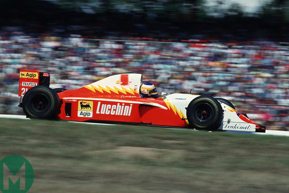 Michele Alboreto in his Scuderia Italia at the 1993 German GP