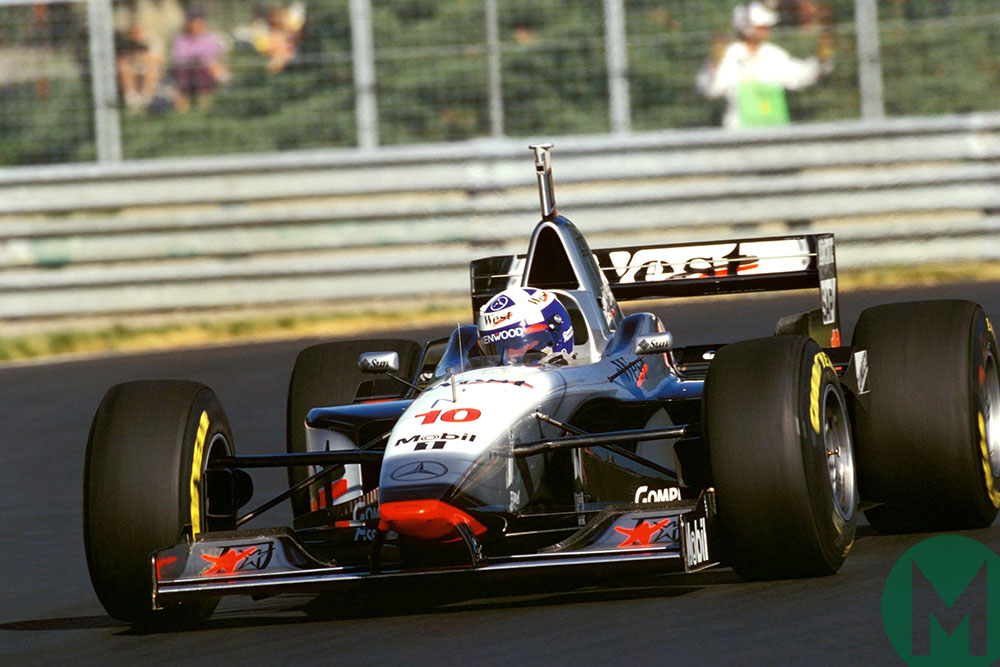 David Coulthard in his McLaren-Mercedes at 1997 Canadian Grand Prix