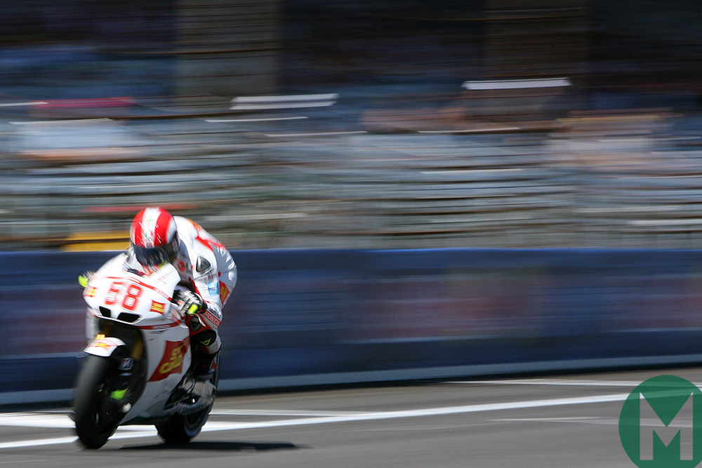 Marco Simoncelli during qualifying for the 2010 USA MotoGP
