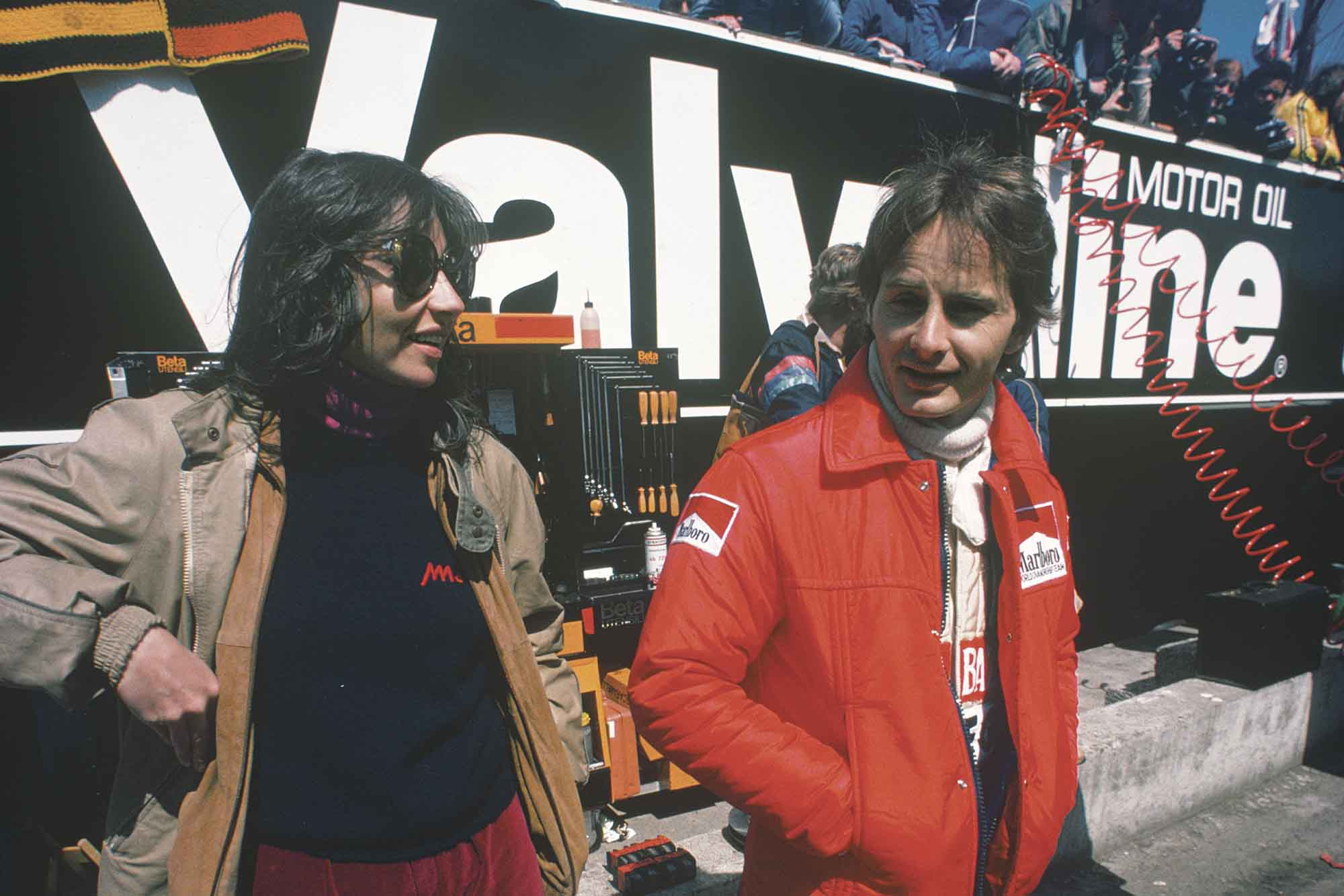 Joann and Gilles Villeneuve at the 1980 Belgian Grand Prix