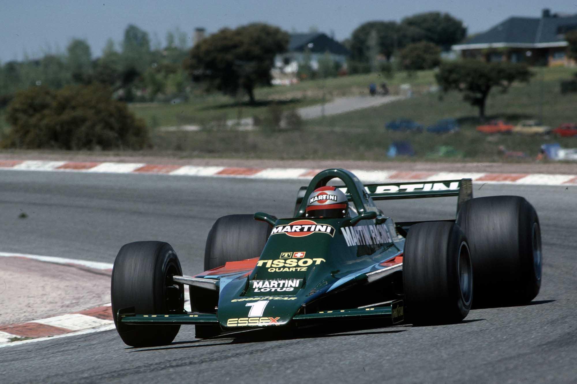 Mario Andretti drives at Spanish Grand Prix 1979