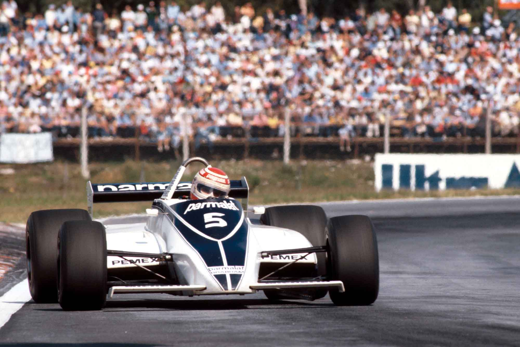 Nelson Piquet in his Brabham 1981 Argentina Grand Prix