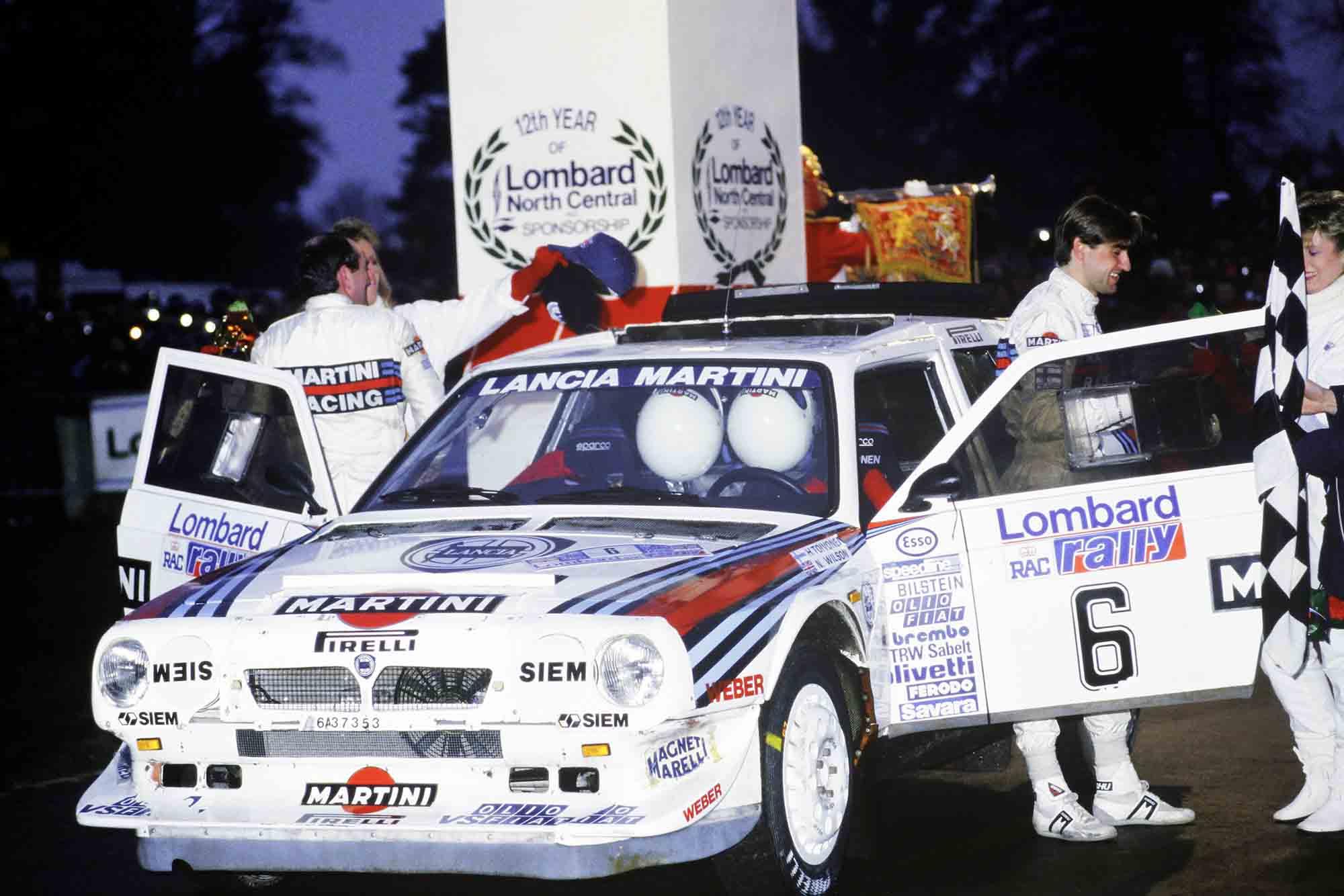 Henri Toivonen wins the 1985 Rally GB in his Lancia