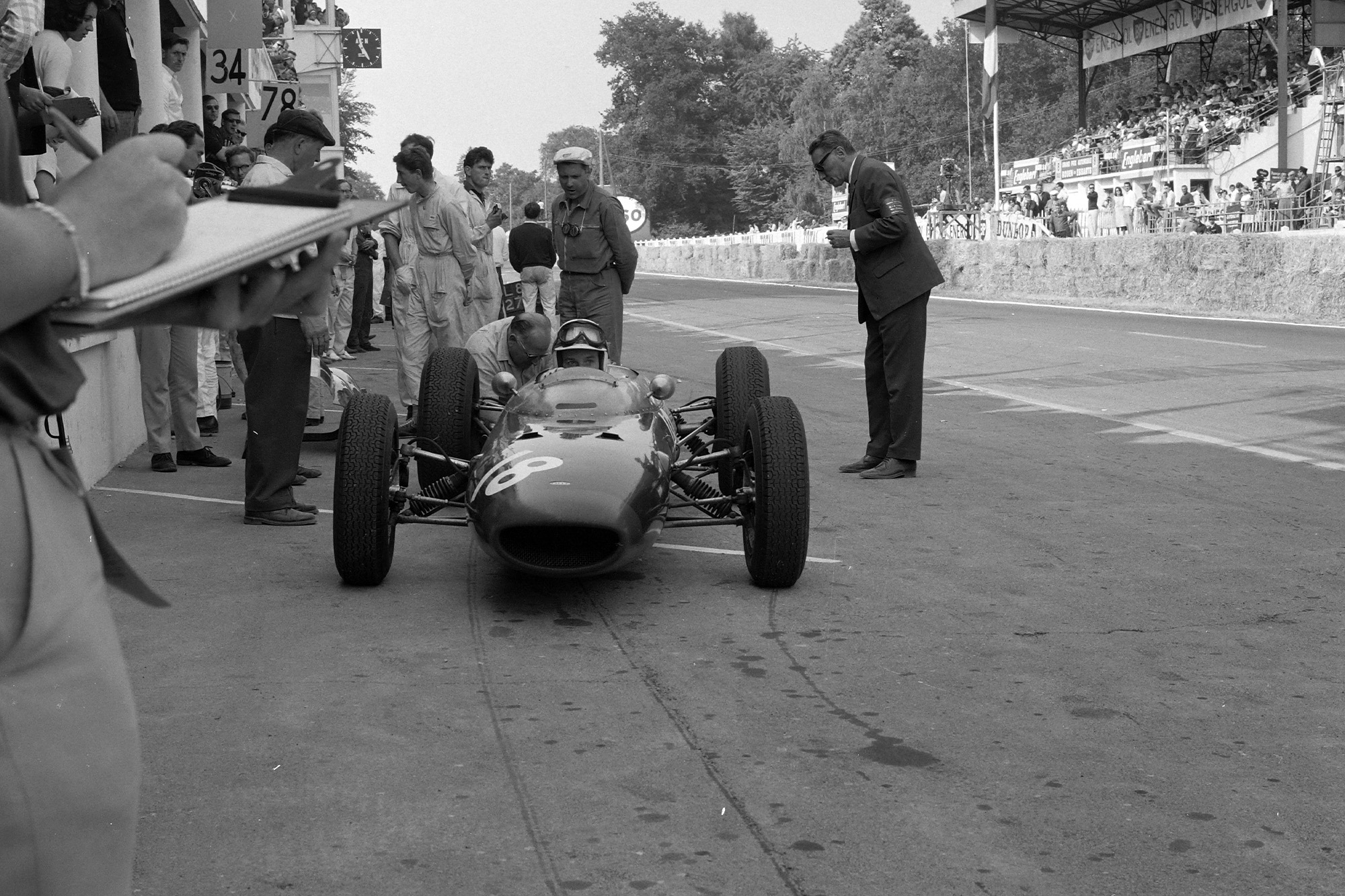 Surtees pays a visit to the pits