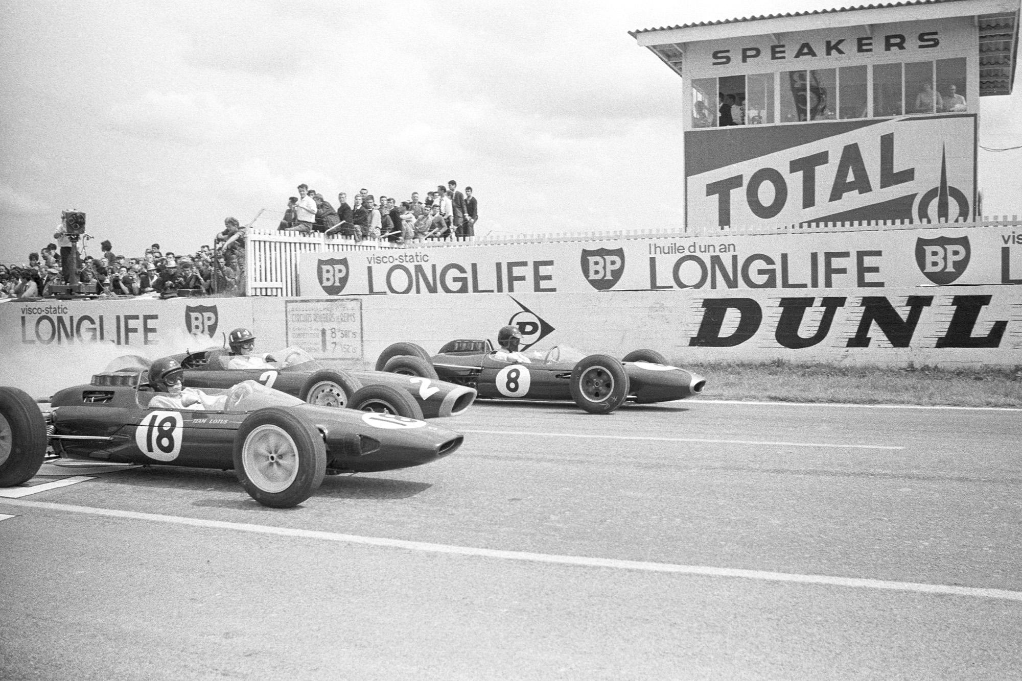 1963 French GP Hill Clark Gurney