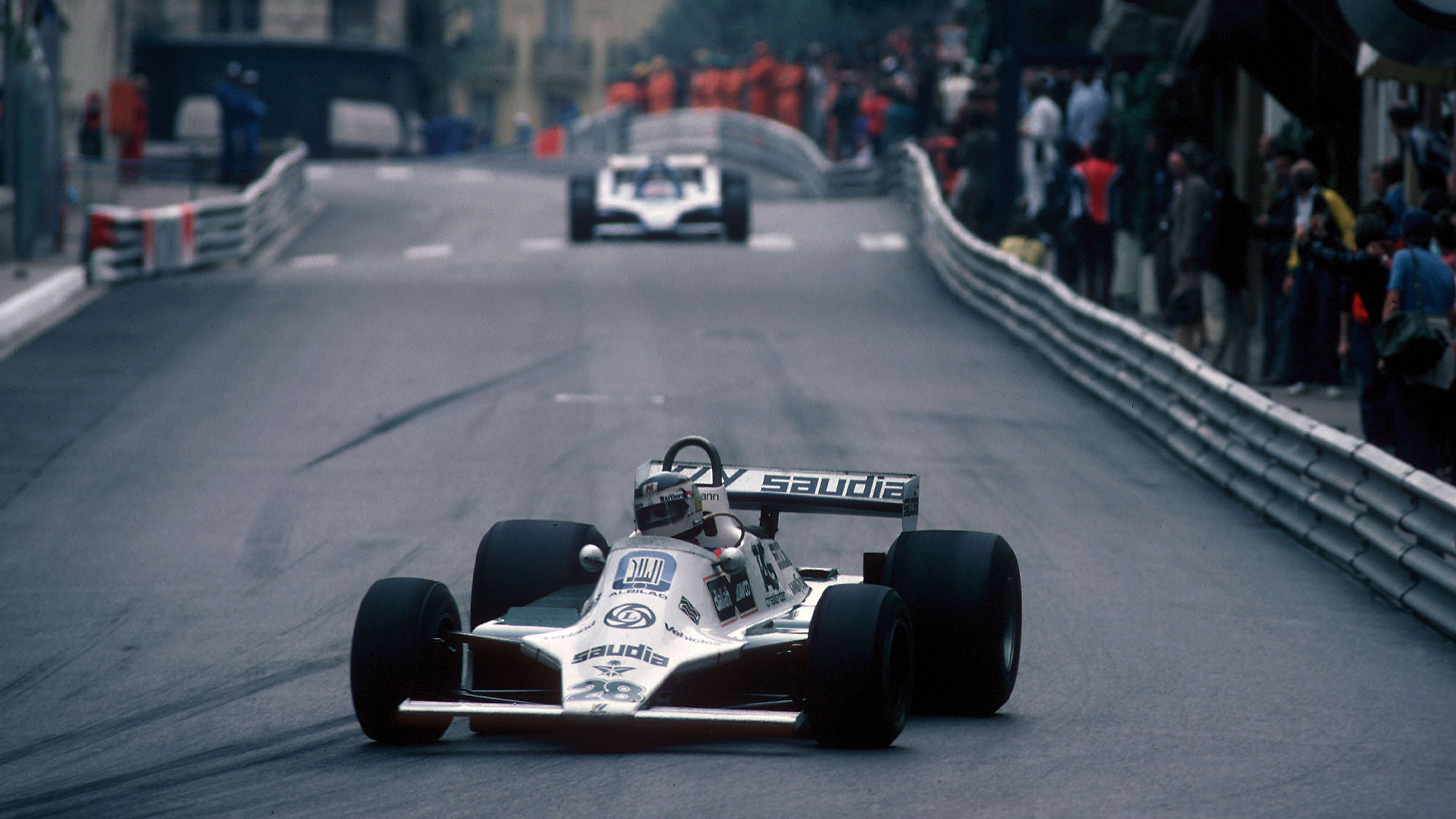 AUTO - F1 1980 - MONACO GP 800518 - PHOTO: DPPI CARLOS REUTEMANN (ARG) / WILLIAMS FORD - ACTION