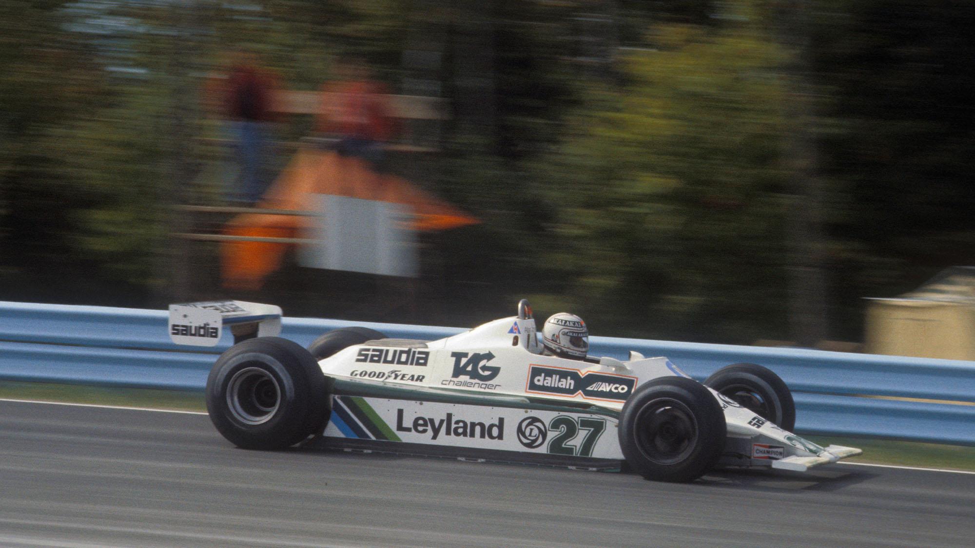 Alan Jones (Williams-Ford) in the 1980 United States Grand Prix East in Watkins Glen. Photo: Grand Prix Photo