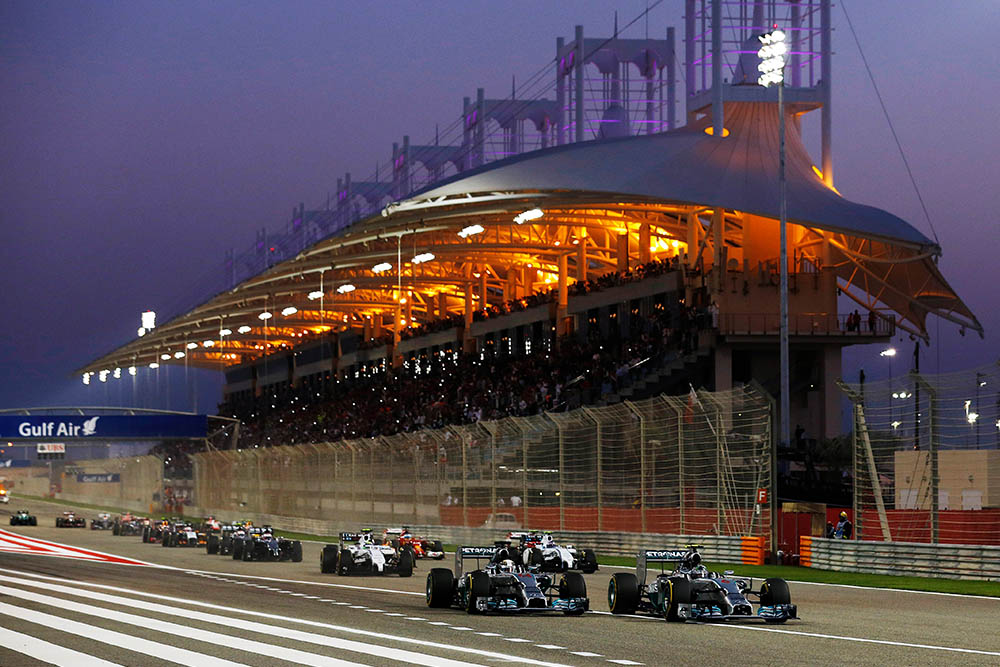 Mercedes lead the way from the starting grid of 2014 Bahrain GP
