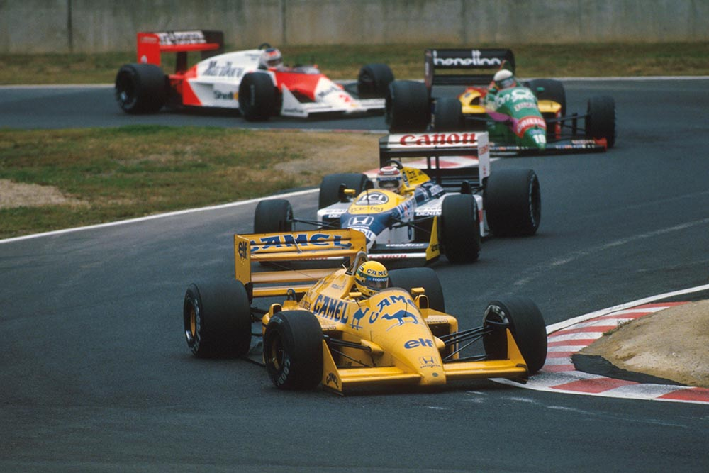 2nd place Ayrton Senna in tha Lotus 99T during the Japanese Grand Prix.