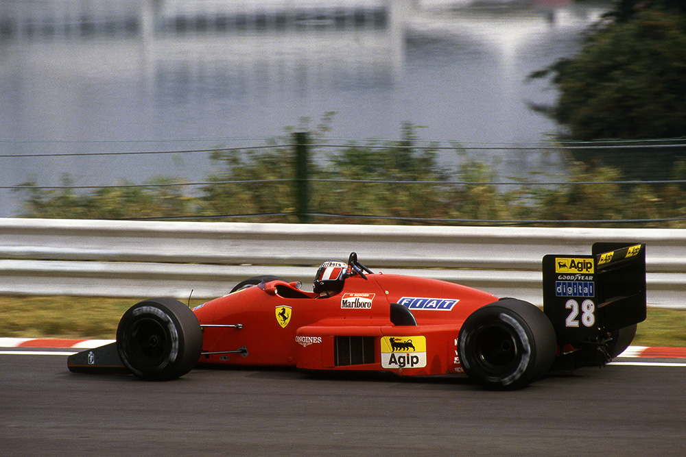 Gerhard Berger heading for a win at Suzuka in his Ferrari F1/87.