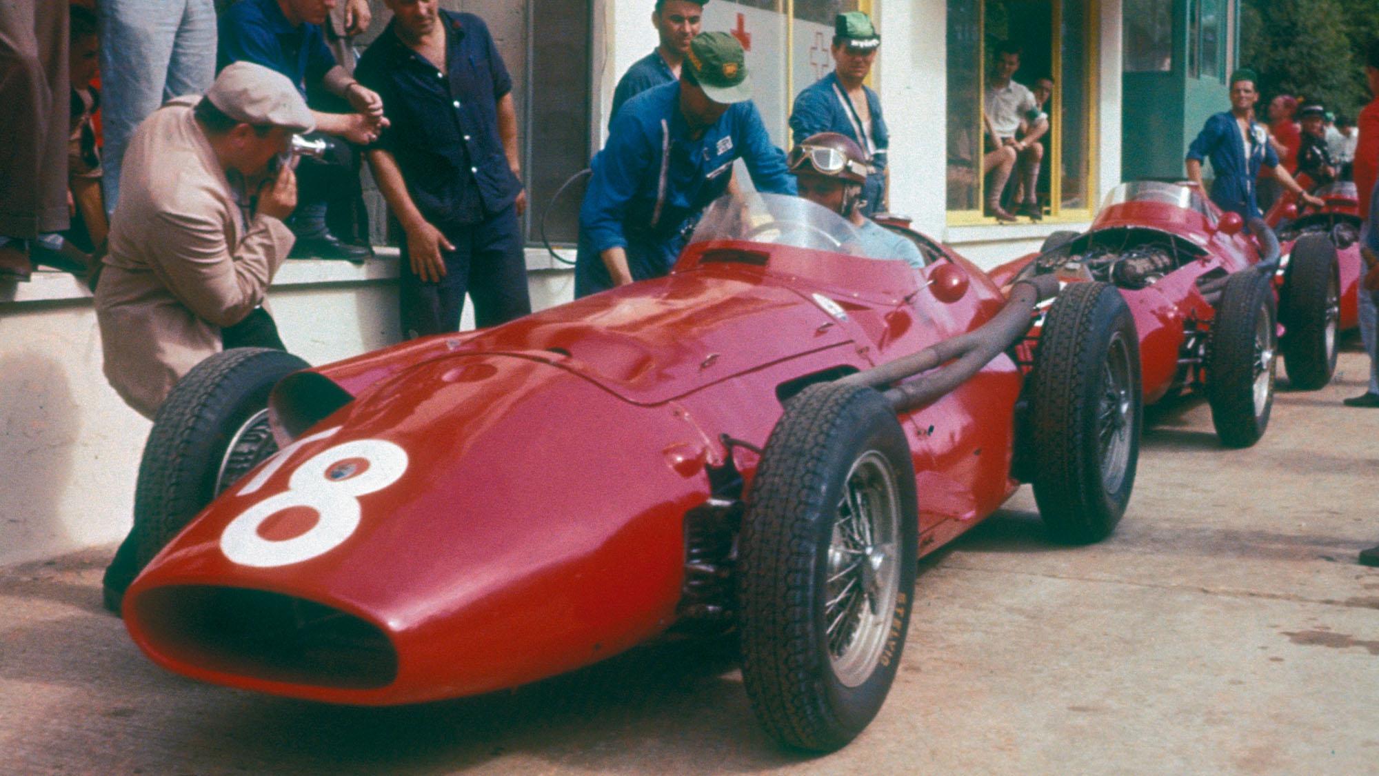 Juan Manuel Fangio Maserati 250f 1957 French Grand Prix Rouen