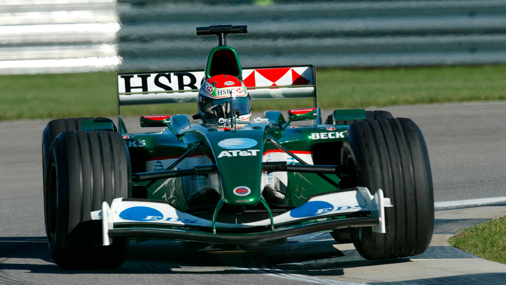 Justin Wilson Jaguar British Grand Prix Silverstone 2003