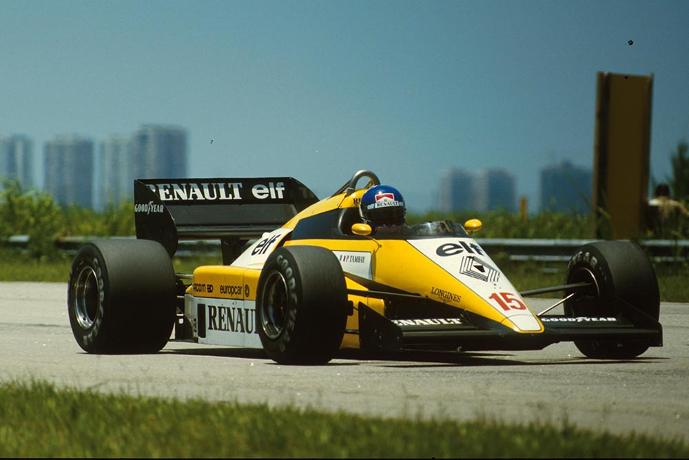 Patrick Tambay in a Renault RE50.
