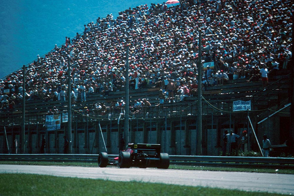 Huge crowds for the Brazilian GP.