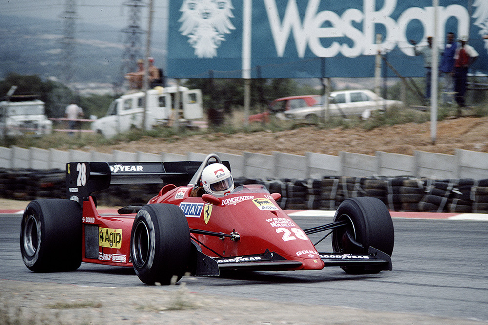 Rene Arnoux Irving a Ferrari 126C4.
