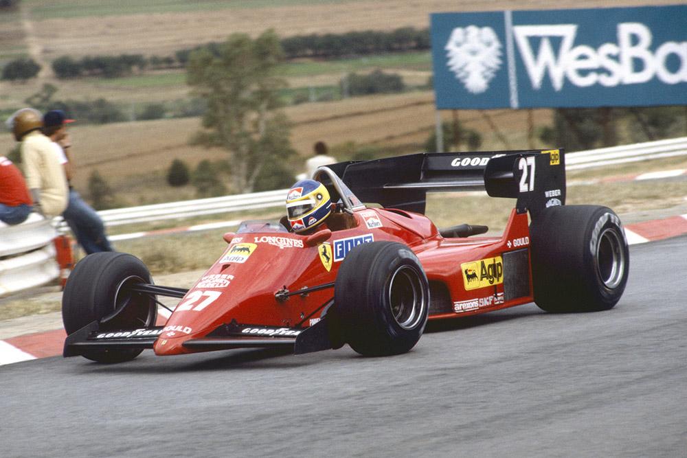 Michele Alboreto in a Ferrari 126C4.
