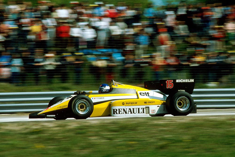 Patrick Tambay finished 2nd in his Renault RE50.