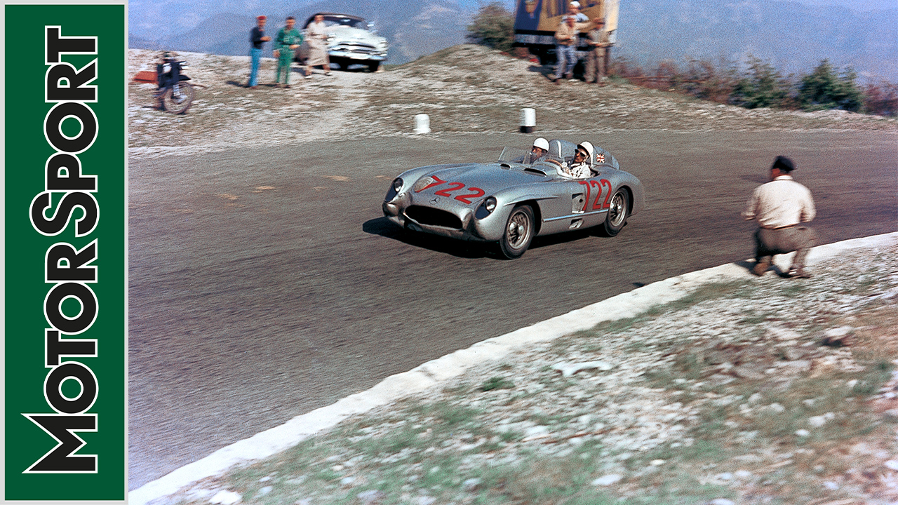 Video Stirling Moss Revisits The 1955 Mille Miglia Motor Sport Magazine