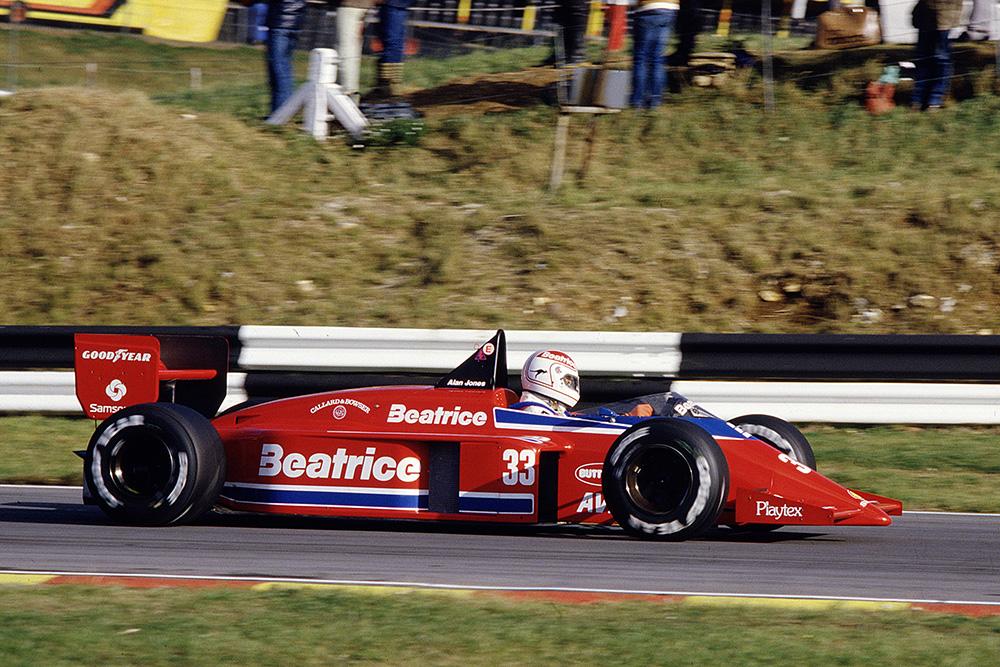 Alan Jones in a Team Haas/Lola THL1 Hart.