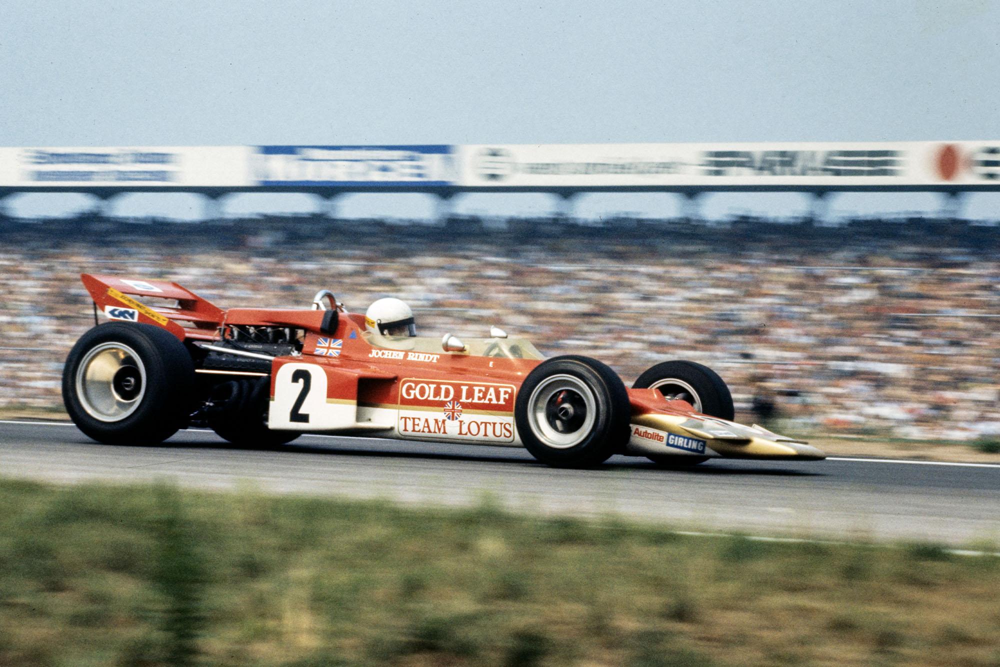 Lotus driver Jochen Rindt at the German Grand Prix